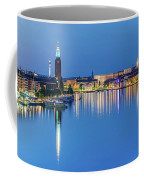 Fantastic Stockholm And Gamla Stan Reflection From A Distant Bridge Coffee Mug