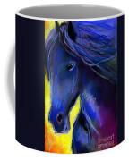 Fantasy Friesian Horse Painting Print Coffee Mug