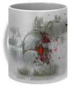 fantasy on theme War the Worlds by Herbert Wells Coffee Mug