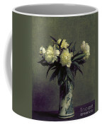 Fantin-latour: Peonies, 1872 Coffee Mug