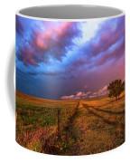 Far And Away - Open Prairie Under Colorful Sky In Oklahoma Panhandle Coffee Mug