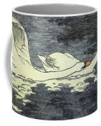 Farbiger Holzschnitt Zwei Schw Ne 1902 Coffee Mug