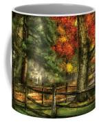 Farm - Fence - On A Country Road Coffee Mug