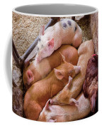 Farm - Pig - Five Little Piggies And A Chicken  Coffee Mug