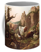 Farm Animals In A Landscape Coffee Mug