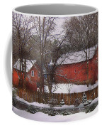 Farm - Barn - Winter In The Country  Coffee Mug by Mike Savad