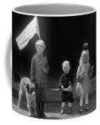 Farm Children And Flag Coffee Mug