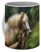 Farm - Horse - White Stallion Coffee Mug