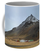 Farm Houses At The Base Of Mt Stapafell In Iceland Coffee Mug