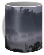 Farm In Fog Coffee Mug