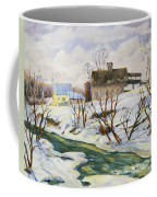 Farm In Winter Coffee Mug