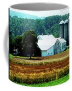 Farm With White Silos Coffee Mug