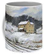 Farmhouse Snowman Coffee Mug