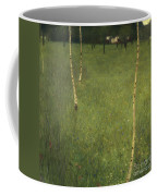 Farmhouse With Birch Trees Coffee Mug by Gustav Klimt