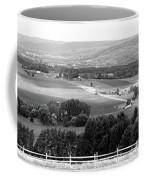 Farming Panorama Finger Lakes New York Bw Coffee Mug