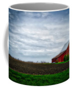 Farming Red Barn On A Quite Spring Day Coffee Mug