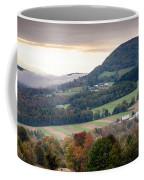 Farms Under The Morning Fog Coffee Mug