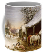 Farmyard In Winter  Coffee Mug