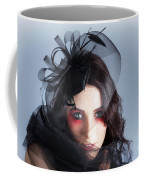 Fascinating Makeup Woman In High Fashion Hat  Coffee Mug
