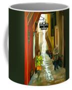 Fashion Alley In Bologna Coffee Mug by Milagros Palmieri