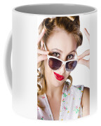 Fashionable Woman In Sun Shades Coffee Mug