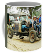 Father And Daughter In The Tractor Parade Coffee Mug