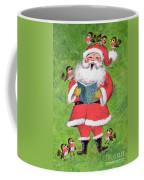 Father Christmas And Robin Chorus Coffee Mug