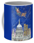 Father Christmas Flying Over London Coffee Mug