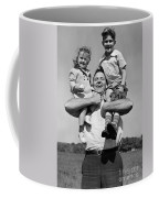 Father Holding Children, C.1930s Coffee Mug
