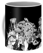 Father Time In Black And White Coffee Mug