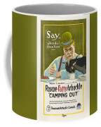 Fatty Arbuckle In Camping Out 1919 Coffee Mug