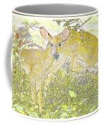 Fawn Twins Digital Painting Coffee Mug