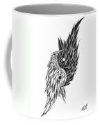 Feathered Ying Yang  Coffee Mug