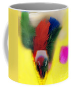 Feathers In Wine Glass Coffee Mug