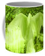 Feathers Of Light - Green Coffee Mug