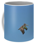 Feathers On A Pelican Wings Flapping In Flight Coffee Mug