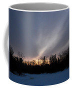 February Dawn Over Mississippi River Coffee Mug