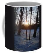 February Sunrise Alongside A Tree Coffee Mug