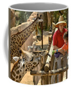 Feeding Giraffe 3a Coffee Mug