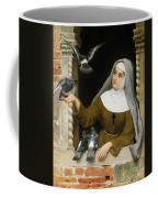 Feeding The Pigeons Coffee Mug by Eugen von Blaas