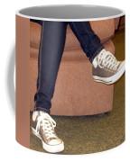 Feet In A Book Store Coffee Mug