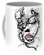 Female Abstract Face Coffee Mug by Darren Cannell