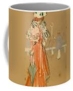 Female Figure In Red Coffee Mug