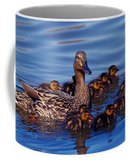 Female Mallard Duck With Chicks Coffee Mug
