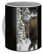 Female Moose In A Winter Wonderland Coffee Mug