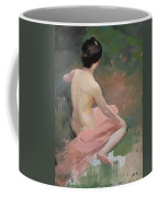 Female Nude Coffee Mug by Jules Ernest Renoux