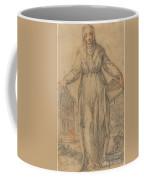 Female Saint (saint Clare Of Assisi Or Saint Catherine Of Siena?) Coffee Mug