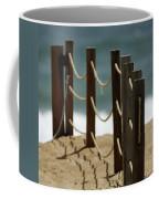 Fence Along The Beach Coffee Mug