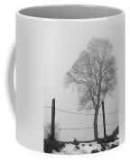 Fence And Fog Coffee Mug