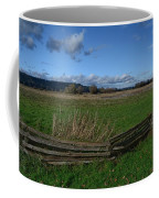 Fence And Open Field Coffee Mug